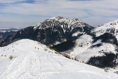 Kominiarski Wierch piękna góra w zimie uwarunkowywać (Komin Tylkowe) Fotografia Royalty Free