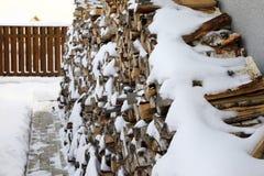 kominka pożarniczy drewno Zdjęcia Stock