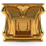 kominka złoto Obraz Stock