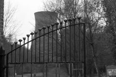 Kominowa sterta, żelazo most, Shropshire, Anglia UK Fotografia Royalty Free