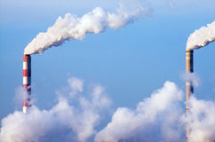 kominowy dymienie Fotografia Royalty Free