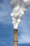 kominowy przybycie dymi Fotografia Stock