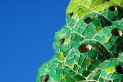 Kominowy szczegół na dachowym Palau Gà ¼ ell Barcelona Antoni gaudà fotografia stock