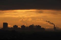 kominy przemysłowych Zdjęcie Royalty Free