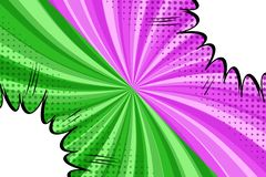 Komisch gegen helles Konzept vektor abbildung