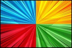 Komisch gegen sternenklare Schablone vektor abbildung