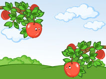 Komische Äpfel Stock Abbildung