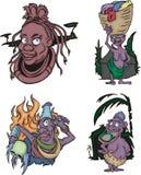 Komische afrikanische Ureinwohnerfrauen Stockbild