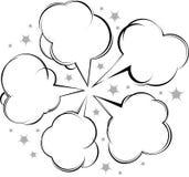 Komische Artsprache-Luftblasenansammlung Stockfoto