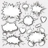 Komische Blasen und Elemente 3 stock abbildung