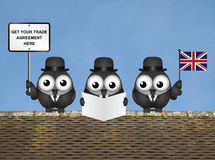 Komische de Handelsdelegatie van het Verenigd Koninkrijk Stock Afbeelding