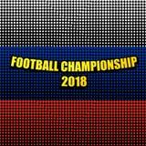 Komische Fußball-Meisterschafts-Schablone 2018 vektor abbildung
