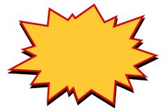 Komische Gelbexplosion stock abbildung