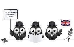 Komische Handels-Delegation Vereinigten Königreichs Stockfotos