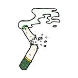 komische Karikatur gebrochene Marihuanazigarette Stockbilder