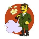 Komische Karikatur Stalin lizenzfreie abbildung