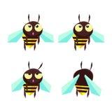 Komische kleine Biene Stock Abbildung