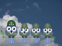 Komische Soldaten Stockbild