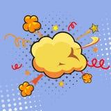 Komische Sprache-Blase, Karikatur Stockbild