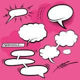 Komische Sprache-Blasen Stockbild