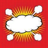 Komische Spracheblase, komisches backgound Lizenzfreies Stockfoto