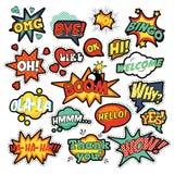 Komische Spracheblasen der Pop-Art eingestellt Lizenzfreies Stockbild
