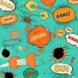 Komische Spracheblasen der Schablonenweinlese Lizenzfreies Stockbild