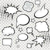 Komische Spracheblasen und -Bildgeschichte auf Monochrom Lizenzfreies Stockfoto