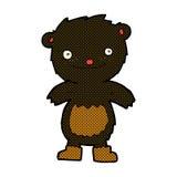 komische tragende Stiefel des schwarzen Bären des Karikaturteddybären Stockfotografie
