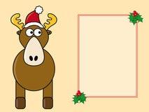 Komische Weihnachtskarte Stockbild