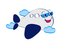 Komische Zeile Kunstflugzeug Stockbild