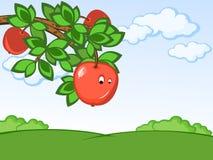 Komischer Apfel lizenzfreie abbildung