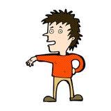 komischer Karikaturmann, der abweisende Geste macht Lizenzfreie Stockfotografie