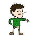 komischer Karikaturmann, der abweisende Geste macht Stockfoto