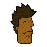 komischer Karikaturmann, der krank sich fühlt Stockfoto