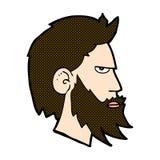 komischer Karikaturmann mit Bart Stockfoto