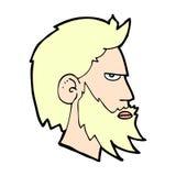 komischer Karikaturmann mit Bart Stockbild