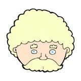 komischer Karikaturmann mit dem Schnurrbart Stockbild