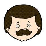 komischer Karikaturmann mit dem Schnurrbart Stockfotos