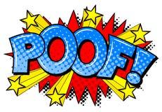 Komischer Klangeffekt Poof Stockbild