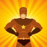Komischer Leistung-Superheld Lizenzfreie Stockfotos
