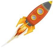Komischer Rocket Ship Lizenzfreies Stockfoto