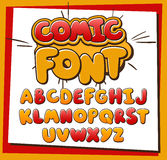Komisches Alphabet Stockbild