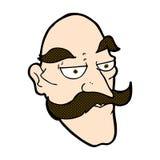 komisches Gesicht des alten Mannes der Karikatur Lizenzfreie Stockfotografie