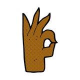 komisches Karikatur-O.K.handzeichen Lizenzfreies Stockfoto