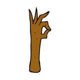 komisches Karikatur-O.K.handzeichen Stockbilder