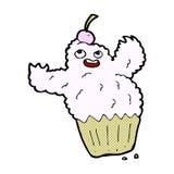 komisches Monster des Karikaturkleinen kuchens Stockfotografie