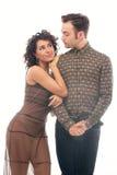 Komisches Porträt von jungen Paaren Stockbild