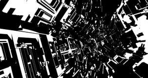 Komisk ögla för science fictiontunnel VJ stock video