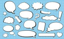 Komisk anförandebubbla Arkivbild